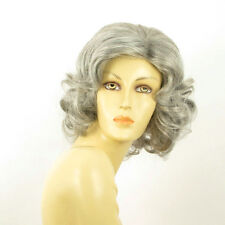 mid length wig for women gray curly ref: 51 TRYCIA PERUK