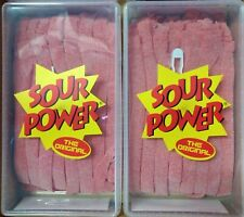 Sour Power Strawberry Candy Belts 150 count X (2)