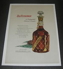 Print Ad 1953 DISTILLERY Old Fitzgerald Bourbon Whiskey gold diamond decanter.