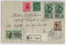 RSI 1945 16 Marzo lettera raccomandata da Casale Monferrato per Torino -pt51