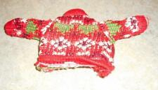 Red,Green & White Patterned Ski Sweater for Ken & Friends