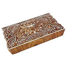 Indische Hand geschnitzte Textildruck Blöcke aus Holz, Stoff Briefmarken 0914