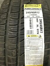 1 New 245 45 17 Continental Pure Contact Tire