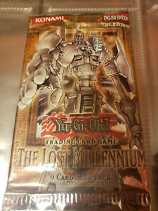 Yugioh The Lost Millennium 1st edition sealed booster pack