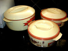 Milton Tuf-Puf Lot of 3 used containers Keep Warm/Cold Insulated Hot Pot Thermos