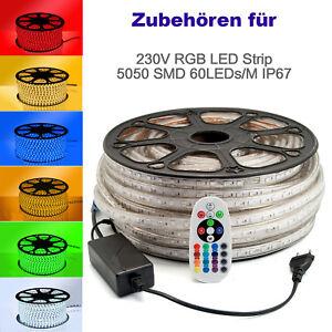 Zubehören Controller Verlängerungskabel für 230V LED RGB Strip Streifen 60LEDs/M
