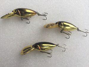 "3 Willy's Worm #2 Gold and Black Crankbaits 3"" Salmon, Walleye, Steelhead"