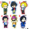 Anime BANANA FISH rubber Keychain Key Ring Race Straps cosplay