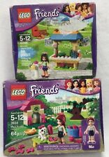 Lego Friends Lot Mia's Puppy House 3934 & Emma's Tourist Kiosk 41098