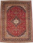 Vintage Floral Design Handmade Red 10X13 Extra Large Oriental Rug Home Carpet