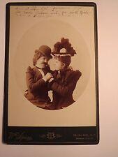 New York USA - 1895 - Carola Soltow & Martha Riebau als junge Frauen - Hut / KAB