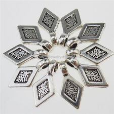 13185 50PCS Glue on Bails Setting Rhombus Bails For Necklace Charms