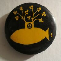 Vintage The Beatles Yellow Submarine Pin Button Repro