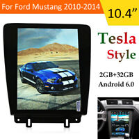 Android 2+32GB Tesla Style Car GPS Navigation Radio For Ford Mustang 2010-2014