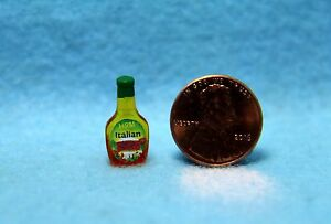 Dollhouse Miniature Replica Salad Dressing Bottle of Italian  HR54273