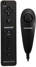 GoolRC Wired Nunchuck e Remote Controller con Motion Plus per Nintendo Wii Nero
