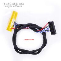 FIX 30Pin 2ch 6bit LVDS Kabel für 15inch ~ 19inch LCD Panel 6 Bits 260mm! C3N5