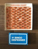 Bingo 1974 Checking Board Plastic Markers And Dispensing Box Missing Number 39