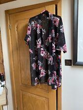 Stunning Black/ Pink Rose  Lace Jacket, Size 22-24, Wow !