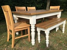 5' x 3' Traditional Pine Rustic Farmhouse Table (Table only, handmade to order )