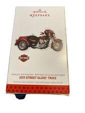 Hallmark Keepsake Christmas Ornament Harley Davidson 2011 Street Glide Trike!!!!