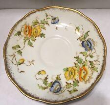 Royal Albert Saucer Crown China 7729 Yellow Blue Orange Poppies
