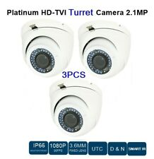 3 LOTS HD-TVI TURRET CAMERA 2.1MP, 3.6MM FIXED LENS, CCTV SECURITY IN / OUT DOOR