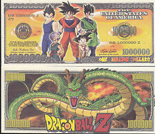Dragon Ball Z Novelty Dollar Bill with Free shipping & Protector Buy Now