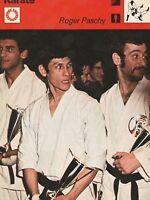 1978 Sportscaster Card Karate Roger Paschy #34-09 NRMINT / MINT