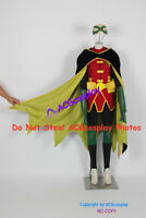 Robin Cosplay Costume include eye mask from batman with velvet fabric cape