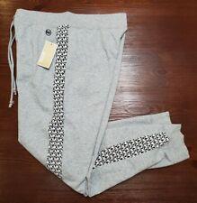 New listing Michael Kors MK Logo Sweatpants Joggers Women's Pants Gray MSRP $110 SZ Large