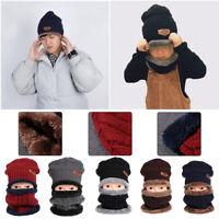 laine de chaud - beanie fleece line en écharpe bonnet de ski le camping chapeau