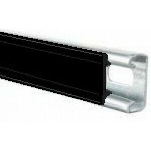 Black Plastic Channel Closure Strip - 3 Metre Length x 10 Quantity