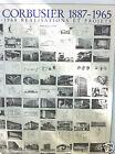 Vintage Laminated Print Le Corbusier 1887-1965 1905-1968 Réalisations et projets