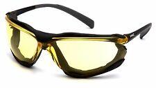 Pyramex Proximity Yellow Anti Fog Foam Padded Safety Glasses Night Driving Z87+
