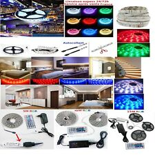 Kit 1, 2, 5,10,15 m Bande Ruban LED Strip Flexible RGB 5050 SMD express 48h