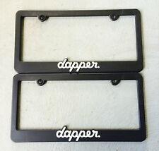 2 Dapper dapper.us dvpper slammed illest fatlace jdm license plate frame holders