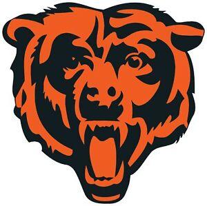 Chicago Bears Bear Logo Vinyl Decal / Sticker 10 sizes!! Free Shipping!! W/Track