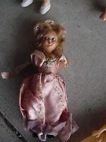 """Vintage 1950s Plastic Princess Girl Doll Needs Arms 7 1/4"""" Tall"""