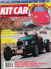 Petersen's Kit Car Magazine Porsche 550 Spyder November 1984 FREE US S/H