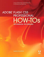 USED (GD) Adobe Flash CS3 Professional How-Tos: 100 Essential Techniques by Mark
