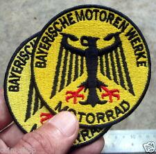 2X BMW PATCH CLASSIC BAYERISCHE MOTOREN WERKE MOTORRAD R 51 25 27 32 BOXER 51