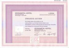 Kennametal Hertel AG Werkzeuge + Hartstoffe  1000DM Fürth 1995