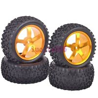 RC 1/10 Off-Road Buggy Car Front&Rear Tyre Tires Metal Wheel Rim Fit HSP M058