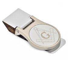 Custom Made Mason Symbol Folding Round Money Clip