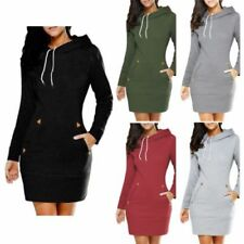 Winter Casual Dresses for Women with Hooded