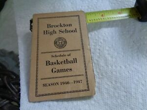 "Antique Epherna ""Brockton High School Basketball Games Schedule""  1946-1947"