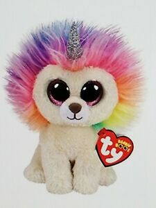 """Ty Beanie Boo Layla the Unicorn Lion Style 36258 Claire's Exclusive 7"""" 18cm MWMT"""