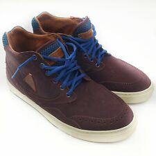LE COQ SPORTIF Prestige Voka High Top Python Effect Leather Court Sneakers 8.5