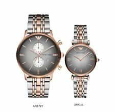 Brand New Emporio Armani AR1721 AR1725 Couple Watch - 2 Years Warranty